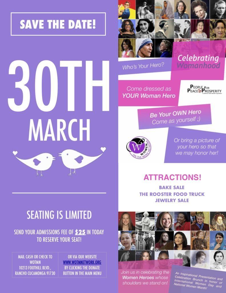 Celebrating Womanhood Flyer